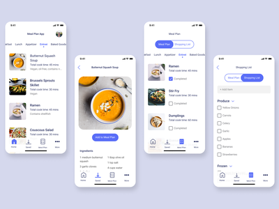 meal plan design vector ui design made with figma ui mobile ui mobile design mobile app design mobile figma