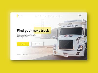 Truck UI web mainpage design ux vehicle truck ui