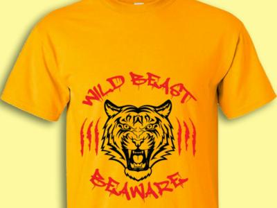 Wild Beast-Beaware. t-shirt tshirt logo logos