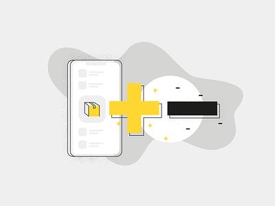 When, Why, and How to Go Mobile: Illustration no. 2 & 3 minimal vectors illustration app mobile app line art line artwork