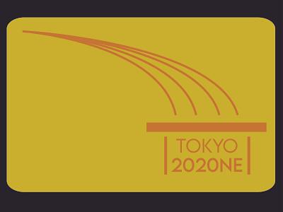 2020 Olympics badge graphic design vector icon minimal logo illustration design branding adobe illustrator