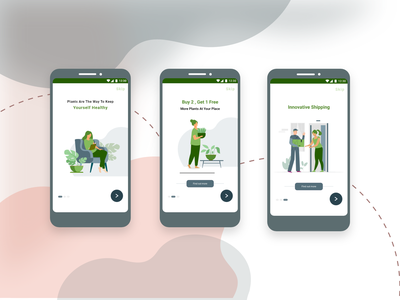 Android-Walkthrough Screens android app design android android app uiux ui ui design interaction design e-commerce design indoor plant e-comerce e-commerce app design app