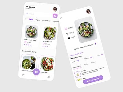 Diet recipe app ios app design recipe app food app app designer uiux ui ui design interaction design design