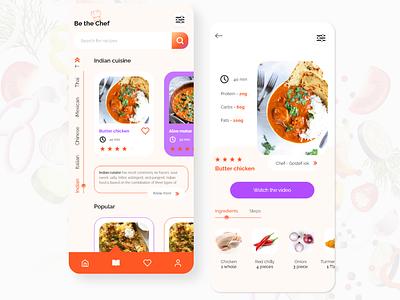 Cuisine recipe app cuisine cooking app recipe app food app interaction design app designer ios app design ui design ui design
