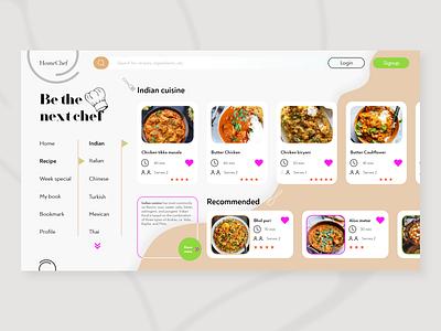 Recipe website design color recipe food website web webdesign web design website design interaction design uiux ui design ui design