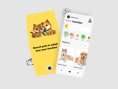 pet adoption app pet color ios app design app designer uiux ui ui design interaction design design