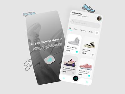 Shoe app shoes app uitrend color ios app design designer app uiux ui design ui design
