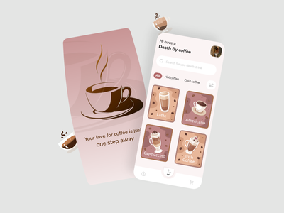 Coffee app coffee color ios app design designer app uiux ui design design interaction design ui