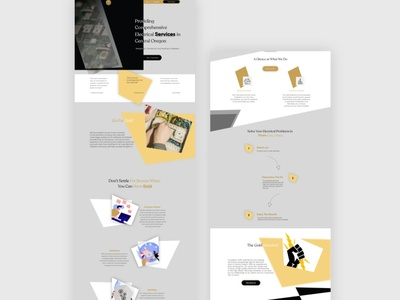 Website design - electricians illustration website design webdesign designer ui design uiux interaction design design ui