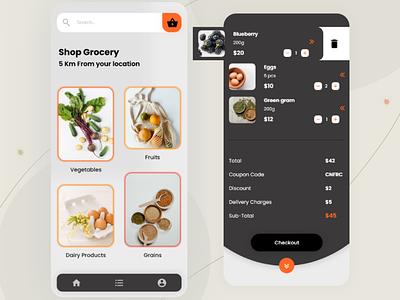 Online Delivery Application uiinspiration uitrend design app uiux ui design interaction design ui