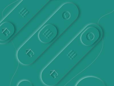 Navigation Bar - Neomorphic design neomorphism navigation bar design designer uiux ui design interaction design ui
