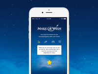 Make A Wish ux ui ios iphone mobile app children wish make a wish