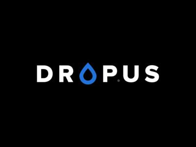 Dropus Logo Design simple logo cms drop dropus us flat file md mark
