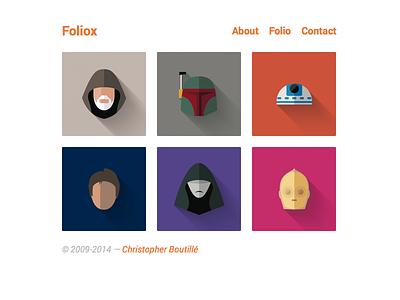 Foliox   Kirby Theme folio portfolio cms kirby getkirby website web site simple minimal flat