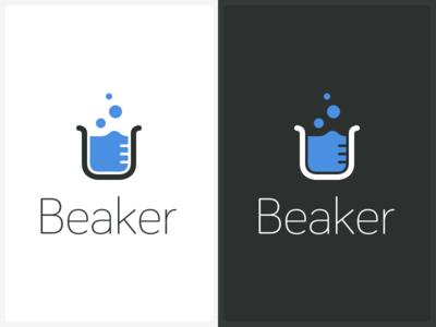 Beaker Logo black  white clean minimal beaker logo buy sale for sale