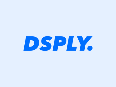 Dsply blue type logotype logo dsply