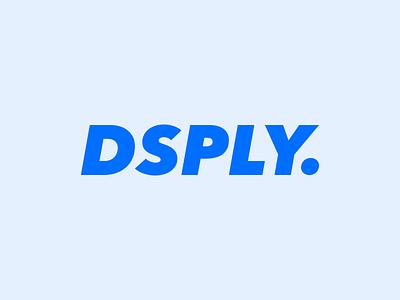 Dsply blue type logotype logo dsply