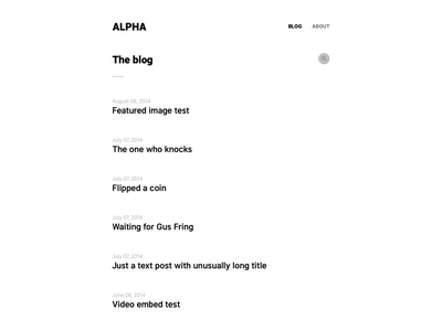 Alpha, for Kirby CMS form contact form theme simple new minimal kirby design cms clean blog article alpha