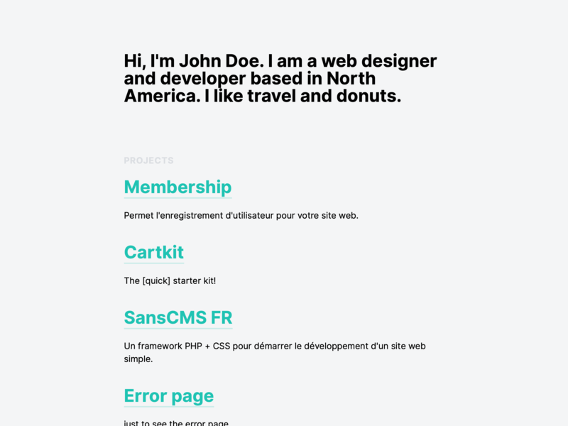 Gamma, for Kirby CMS theme simple news minimal kirby design cms clean blog article gamma