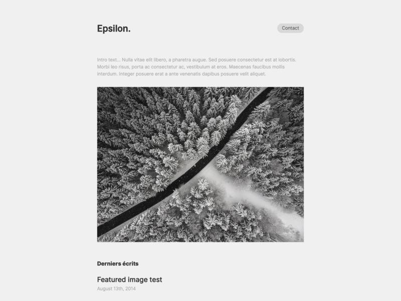Epsilon, for Kirby CMS theme simple new minimal kirby form design contact form cms clean blog article epsilon