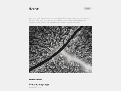 Epsilon, for Kirby CMS theme simple new minimal kirby form design contact form cms clean blog article epsilon