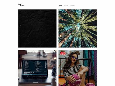 Zêta, for Kirby CMS zeta folio minimal clean simple portfolio form contact form theme cms kirby design