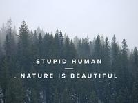 Stupid human   nature is beautiful