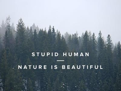 Stupid Human - Nature Is Beautiful; Poster