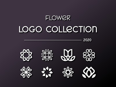 Flower Logo Collection 2020 logodesign vector brand design brand identity minimalist logo icon logo ideas minimal branding flower logo logo collection logo concept logo design logo