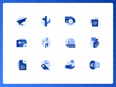 Icons that are Built-for-Scale scalable automatic updates security system flat icons icon set inspiration redesign blue web colors brand icons website
