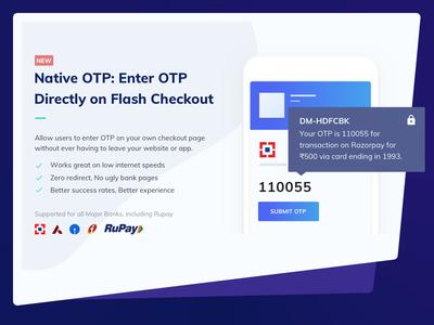 ✅ Native OTP on Checkout