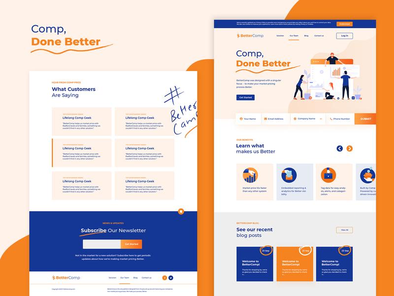 Software Promotion Landing Page Design multipurpose landing page website photoshop modern design web template mockup elegant business software