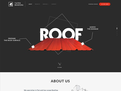 Roofing Website Mockup constructions photoshop template layout web design ux ui mockup roofing website