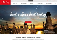 Tour and Travel Website Mockup