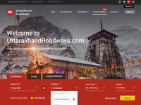 Uttarakhand Roadways Website Design
