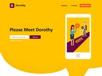 Dorothy Landing Page Design