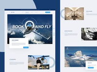 Home Page design for private jet operator