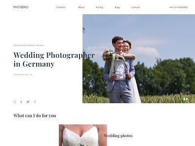 Photographer portfolio wedding webdesigner portfolio design webdesign