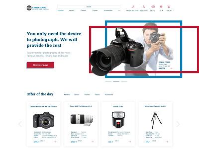 Online shop webdesigner camera equipment online shop webdesign