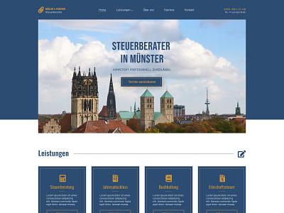 Homepage Tax Consultant webdesign webdesigner homepage