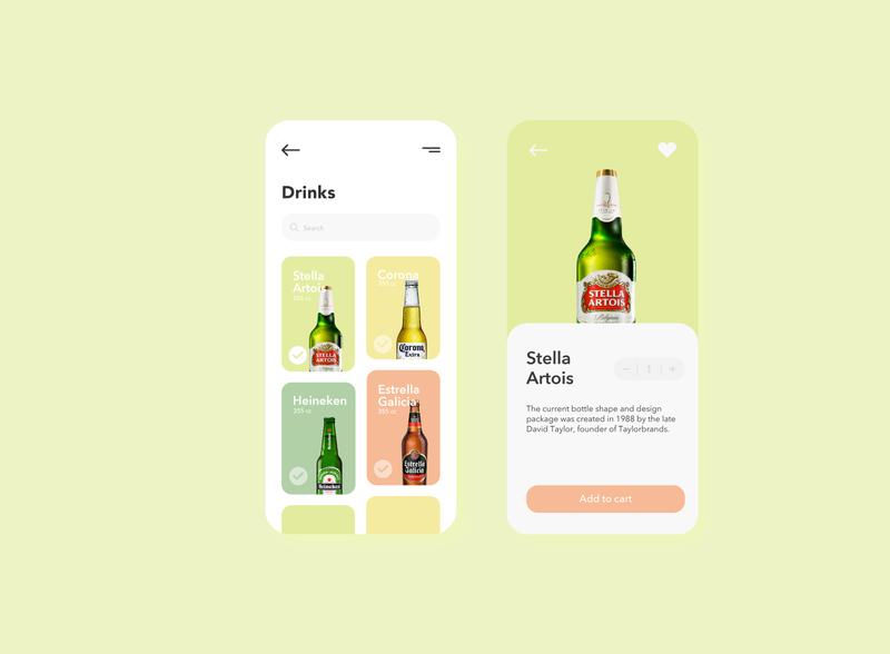 Beer Shop — Mobile App icon minimal flat vector branding animation ux ui design app