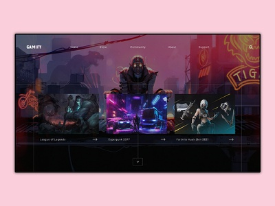 Gamify Web Ui uidesign ux ui design call of duty cyberpunk figma adobexd adobe gaming pes fifa activison sony microsoft ps5 ps4 xbox gamestore games