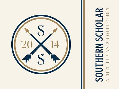 Southern Scholar Rebrand typogaphy typeface southern logo design logodesign logo illustration gold feathers branding design branding brand identity brand design brand arrow logo arrowhead arrow adobe illustrator