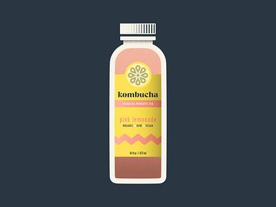Kombucha Bottle raw vegan organic beverage design beverage yellow pink bottle mockup juice tea fruit citrus lemon lemonade glass drink bottle label bottle kombucha bottle kombucha