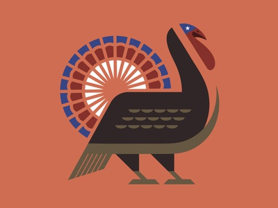 Thanksgiving Turkey animals tail thanks gobble beak logo bird illustration bird usa thanksgiving day animalillustration geometric america wing feathers animal logo animal thanksgiving turkey day turkey