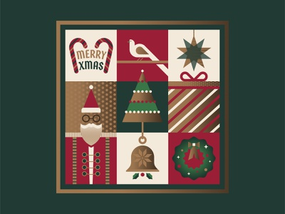 Merry Xmas glasses snowflake ornament star animal bird wreath mistletoe bell bow gift present christmas tree tree candy cane beard santa holiday xmas christmas