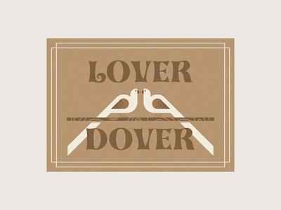 Lover Dover Greeting Card dove logo bird logo i love you card design card vday valentinesday valentines day valentines valentine greeting card greetingcard wood grain branch stick animals bird dove lover love
