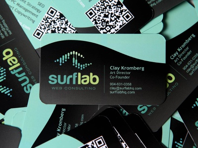 surflab business card business card print branding