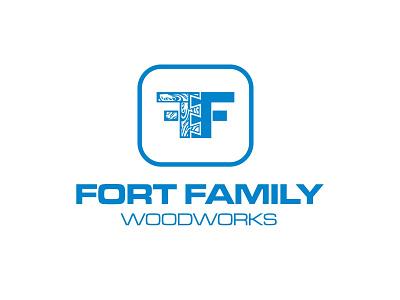 Fort Family Woodworks Logo icon logo branding