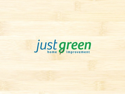 Just Green logo typography logo branding